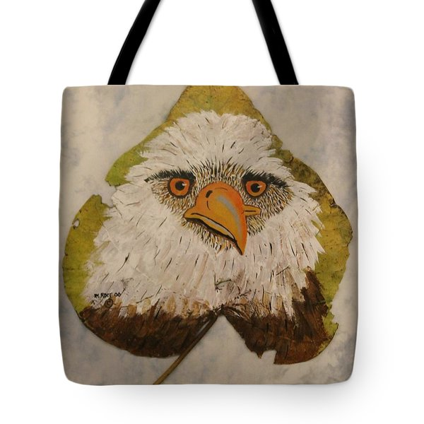 Bald Eagle Front View Tote Bag
