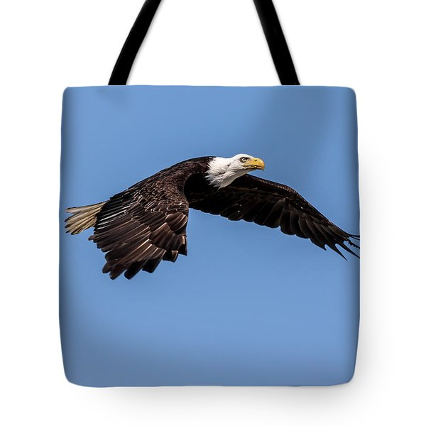 Bald Eagle Gaining Altitude Tote Bag