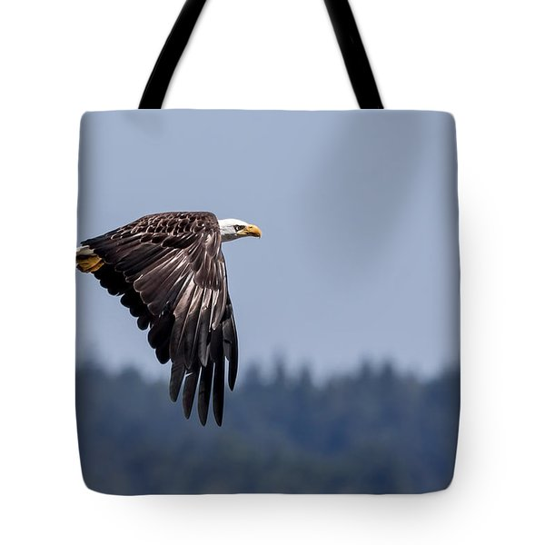 Bald Eagle Hunting Prey Tote Bag