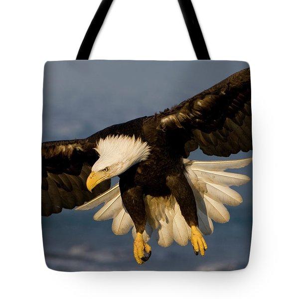 Bald Eagle In Action Tote Bag