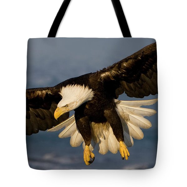 Bald Eagle In Action Tote Bag