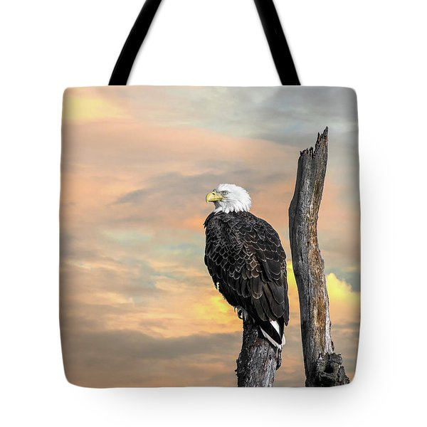 Bald Eagle Inspiration Tote Bag