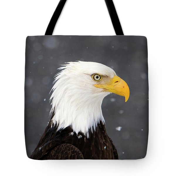 Bald Eagle Intensity Tote Bag