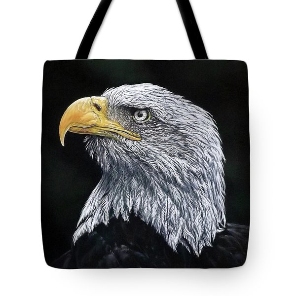 Bald Eagle Tote Bag by Linda Becker