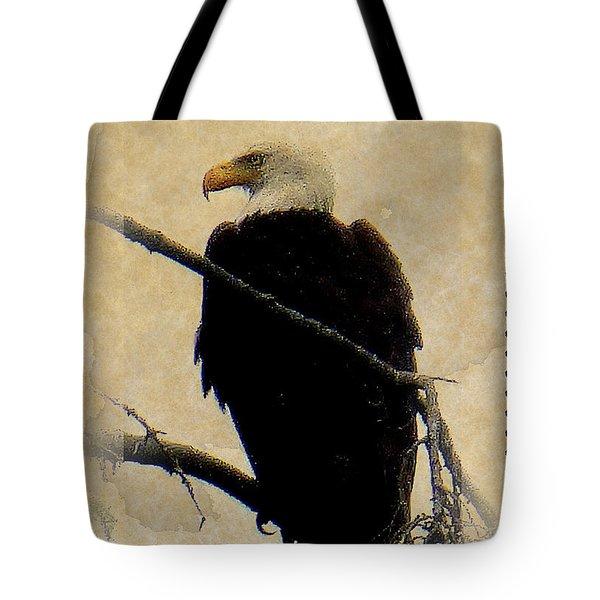 Tote Bag featuring the photograph Bald Eagle by Lori Seaman