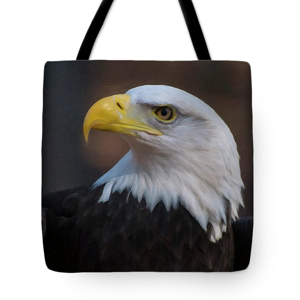 Tote Bag featuring the digital art Bald Eagle Painting by Chris Flees