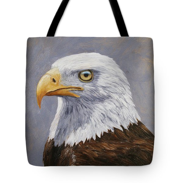 Bald Eagle Portrait Tote Bag by Crista Forest