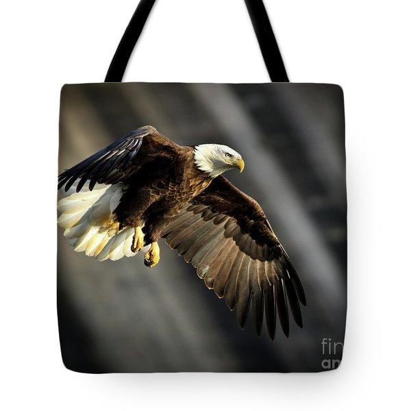 Bald Eagle Prepares To Dive Tote Bag