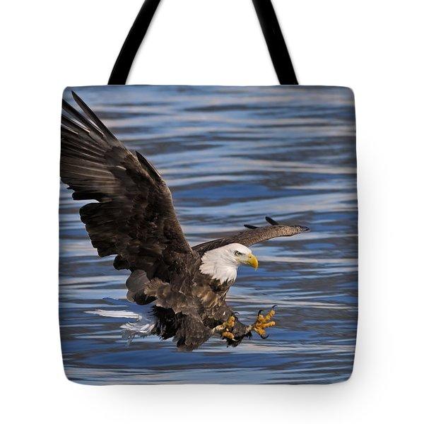 Bald Eagle Strike Tote Bag