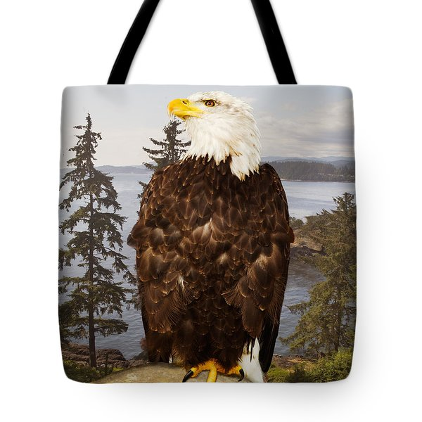 Bald Eagle Vancouver Tote Bag