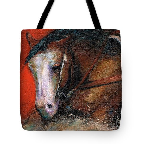 Bald Face Tote Bag by Frances Marino