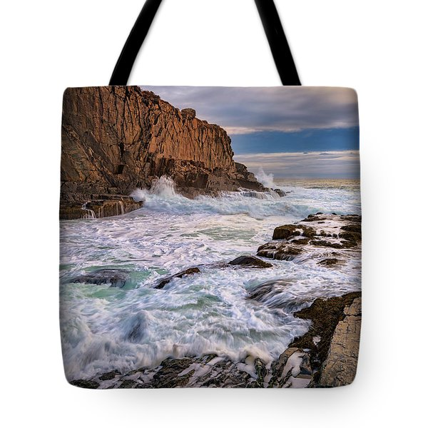 Tote Bag featuring the photograph Bald Head Cliff by Rick Berk