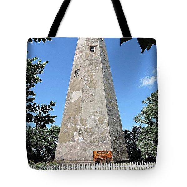 Bald Head Island Lighthouse Tote Bag by Shelia Kempf