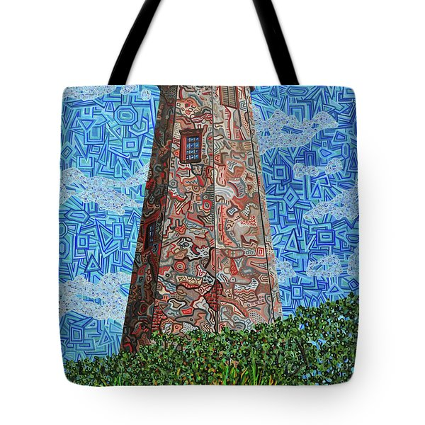 Bald Head Island, Old Baldy Lighthouse Tote Bag by Micah Mullen