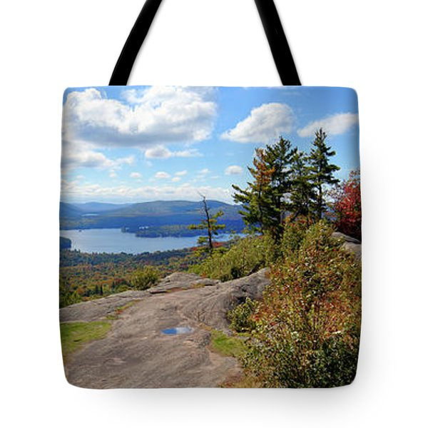 Bald Mountain Autumn Panorama Tote Bag