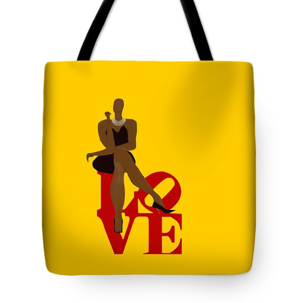 Bald Sitting On Love Tote Bag