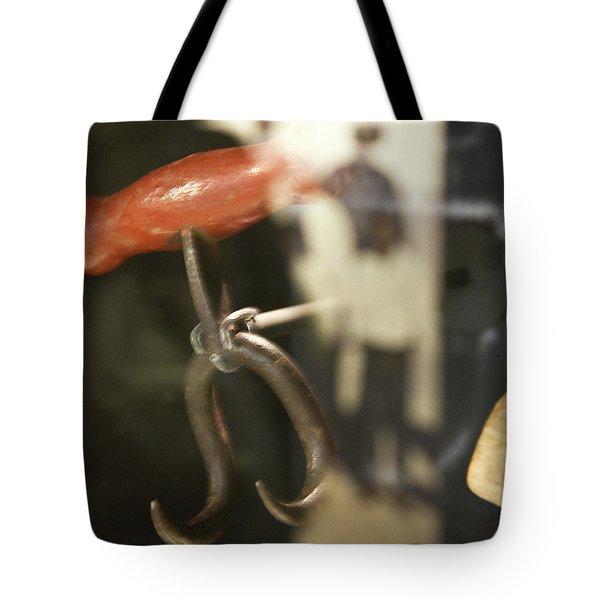 Tote Bag featuring the photograph Bale Hooks by Miroslava Jurcik