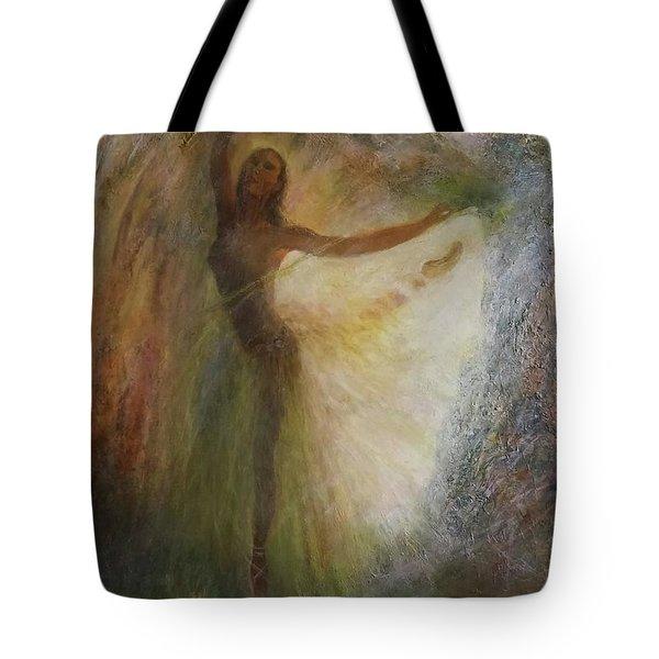 Ballet Dancer's Silhouette Tote Bag