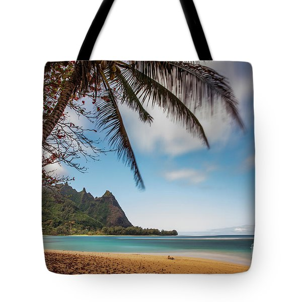 Bali Hai Tunnels Beach Haena Kauai Hawaii Tote Bag