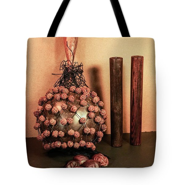 Bali Musical Instrument Shekere With Jentere Beeds Tote Bag