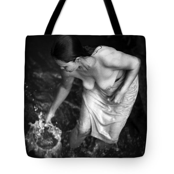 Tote Bag featuring the photograph Balinese Bather by Jennifer Wright
