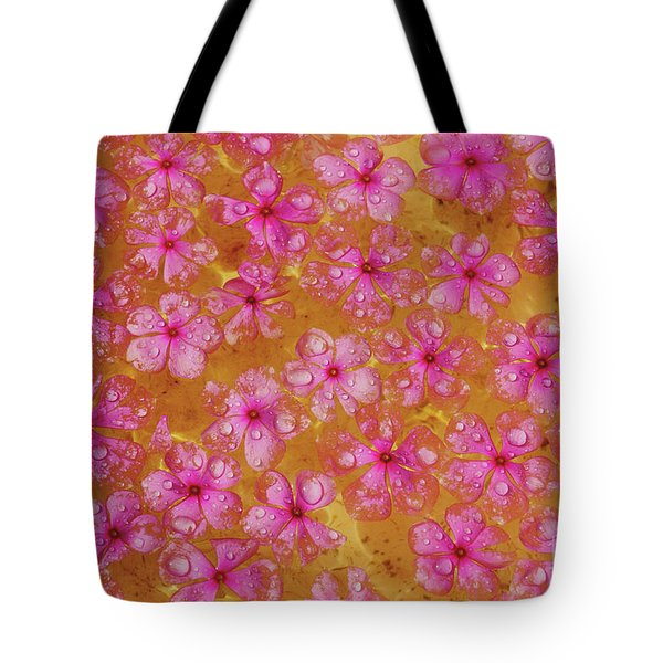 Balinese Flowers Tote Bag