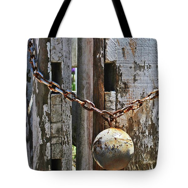Ball And Chain Tote Bag
