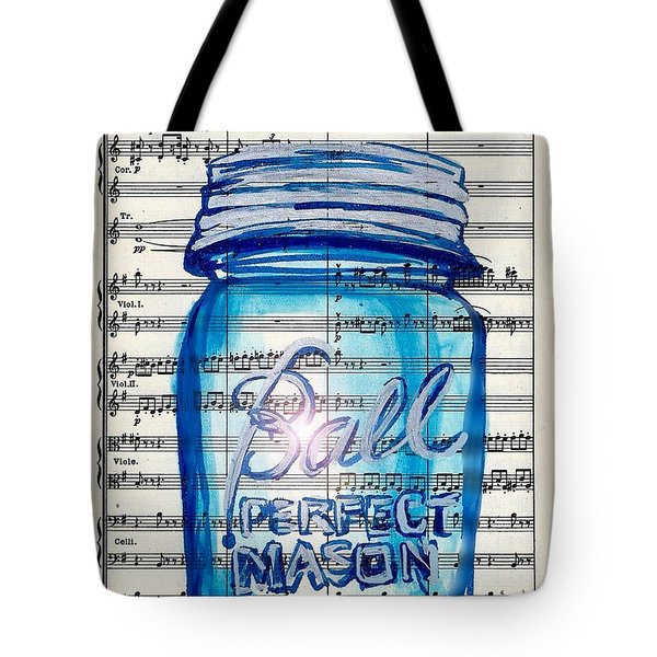 Ball Mason Jar Classical #168 Tote Bag