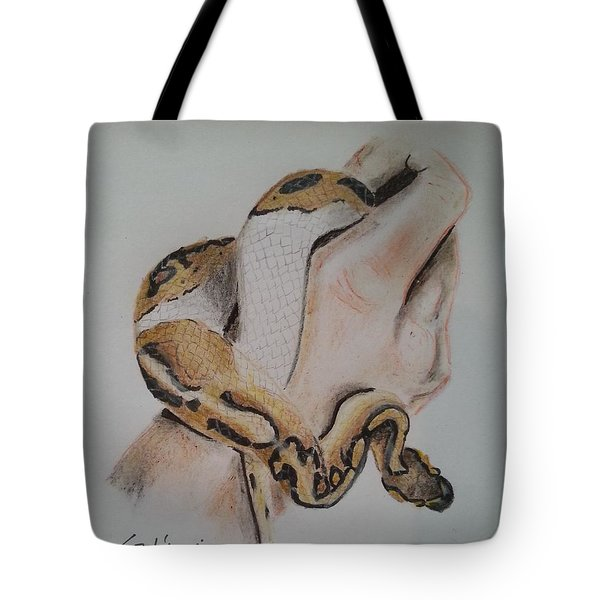Ball Python In Hand Tote Bag