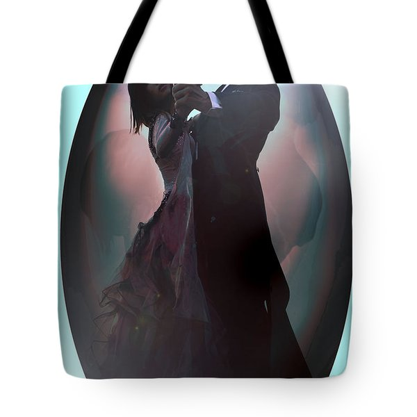 Tote Bag featuring the painting Ball Room Dancer by Tbone Oliver