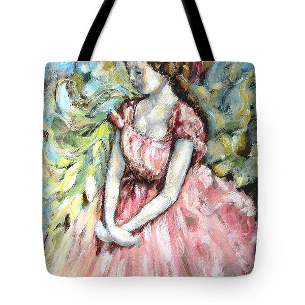 Ballerina Angel Tote Bag