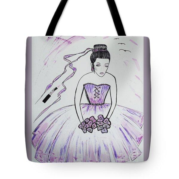 Ballerina Bride  Tote Bag