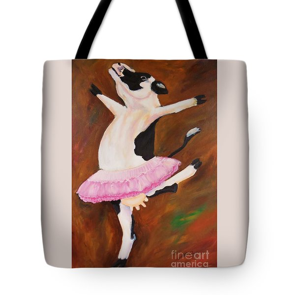 Ballerina Cow Tote Bag