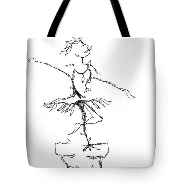 Ballerina- Cracked Pot Tote Bag