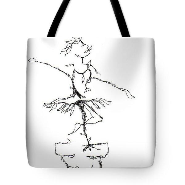 Ballerina- Cracked Pot Tote Bag