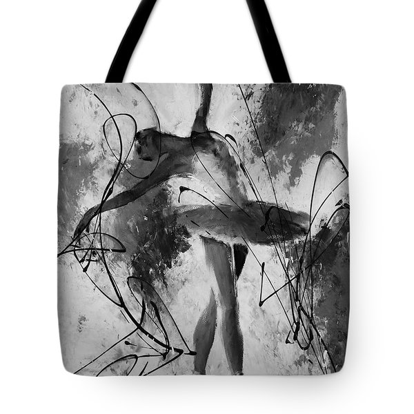 Ballerina Dance Black And White  Tote Bag by Gull G