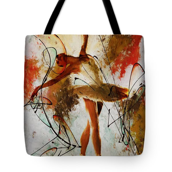 Ballerina Dance Original Painting 01 Tote Bag by Gull G