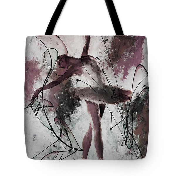 Ballerina Dance Painting 0032 Tote Bag by Gull G