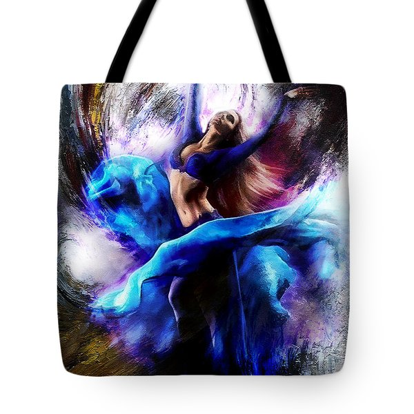 Ballerina Dance009-a Tote Bag by Gull G