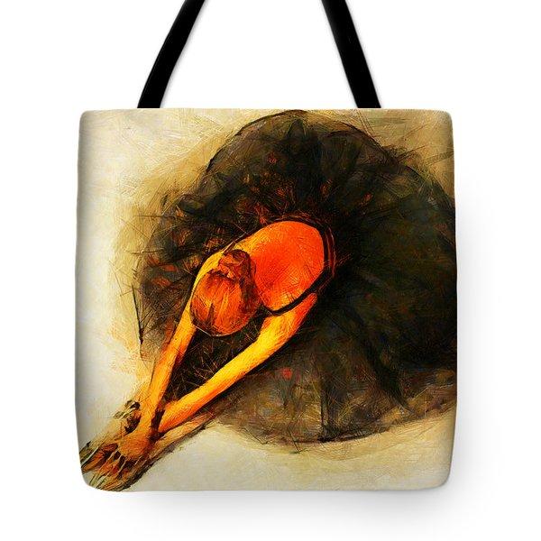 Ballerina Girl - Amore  Tote Bag by Sir Josef - Social Critic -  Maha Art