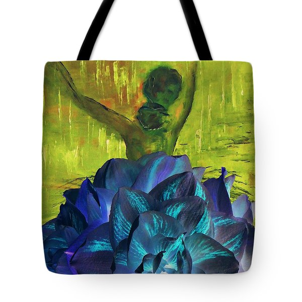 Tote Bag featuring the photograph Ballerina Illusion by AmaS Art