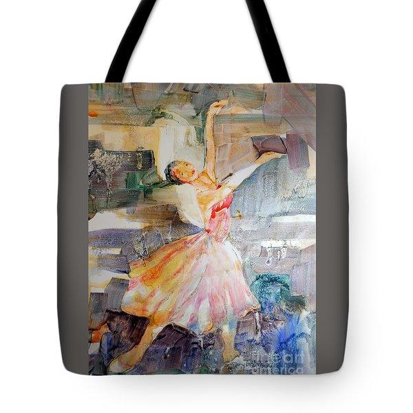 Ballerina In Motion Tote Bag