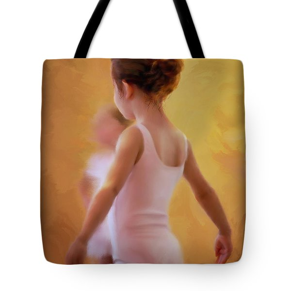 Ballerina In Pink Tote Bag by Colleen Taylor