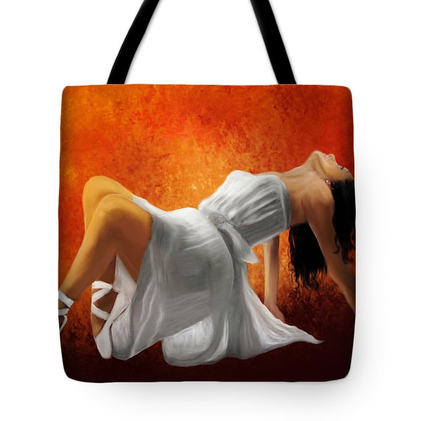 Ballerina In White Tote Bag