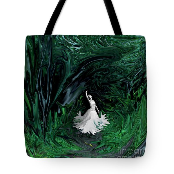Tote Bag featuring the photograph Ballerina In Wonderland by Rebecca Margraf