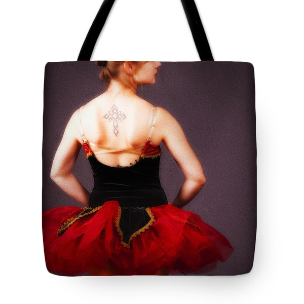 Tote Bag featuring the photograph Ballerina No. 7  ... by Chuck Caramella