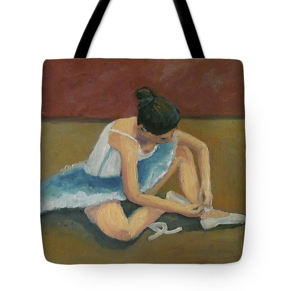 Tote Bag featuring the painting Ballerina by Susan  Spohn