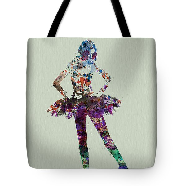 Ballerina Watercolor Tote Bag