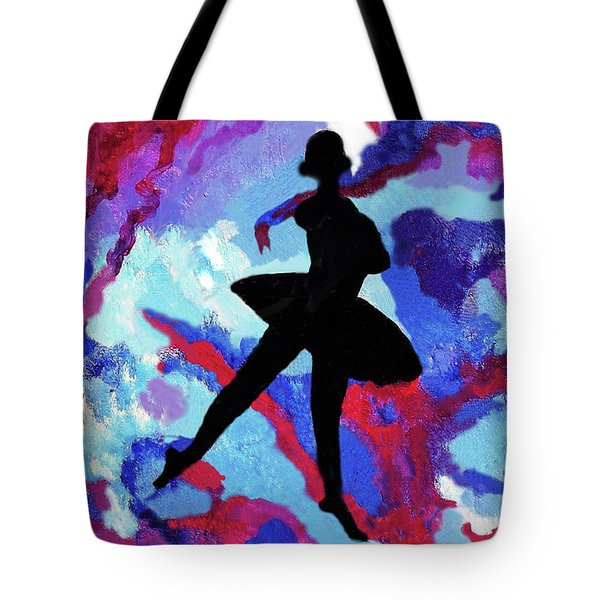 Ballerina With Ribbons Tote Bag