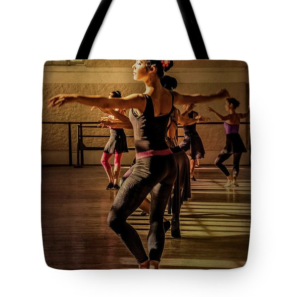 Tote Bag featuring the photograph Ballerina by Lou Novick